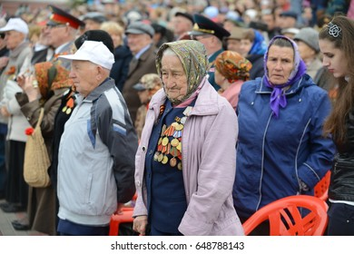 Russia - may 9, 2017 in the city of Orel in the Victory Day celebrations in the main square