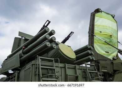 Russia, Moscow 2014 - Exhibition OboronEkspo arms. Russian mobile air defense complex