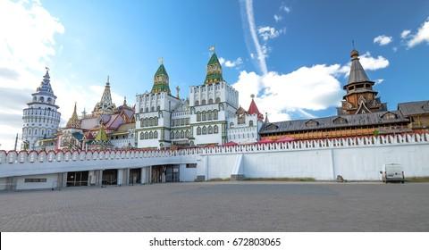 RUSSIA, MOSCOW - 27 May 2017: Kremlin in Izmailovo. beside the Izmoilovo souvenir market. It's a Kremlin in Izmailovo,nice place .