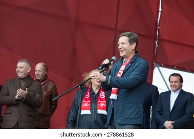 RUSSIA, MOSCOW - APRIL 18: Aleksandr Dmitriyevich Zhukov on the celebration dedicated to the 80th anniversary of the founding of the sports society Spartak in Luzhniki, Moscow, Russia, 2015