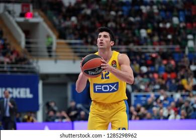 Russia. Moscow. Arena Megasport. January 11, 2019 ã. John DiBartolomeo during the Euroleague basketball match 2018/2019 between CSKA (Russia) vs Maccabi (Israel)