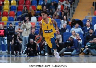 Russia. Moscow. Arena Megasport. January 11, 2019 ã. Scottie Wilbekin during the Euroleague basketball match 2018/2019 between CSKA (Russia) vs Maccabi (Israel)