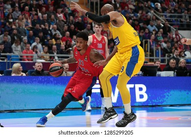 Russia. Moscow. Arena Megasport. January 11, 2019 ã. Will Clyburn and Alex Tyus during the Euroleague basketball match 2018/2019 between CSKA (Russia) vs Maccabi (Israel)