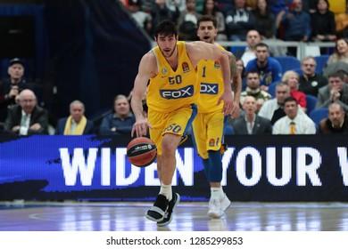Russia. Moscow. Arena Megasport. January 11, 2019 ã. Yovel Zoosman during the Euroleague basketball match 2018/2019 between CSKA (Russia) vs Maccabi (Israel)