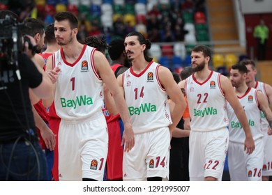 Russia. Moscow. Arena Megasport. January 17, 2019. Players of Bayern during the Euroleague basketball match 2018/2019 between CSKA (Russia) vs Bayern (Germany)