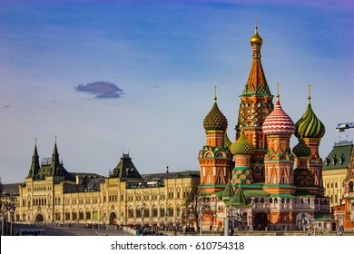 Russia, Moscow Kremlin, St. Basil's Cathedral.
