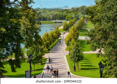 Russia, Moscow, May 13, 2018. Park Tsaritsyno summer time