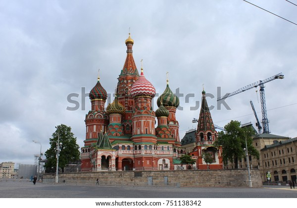 RUSSIA, MOSCOW, MAY 18, 2015: Saint Basil's Cathedral in Moscow