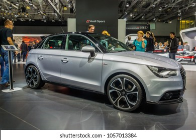 Russia, Moscow, Moskovsky Motor Show August 31, 2014 - hatchback Audi A1 1.4T