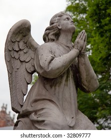 Russia. Moscow. Novodevichy Convent. Angel