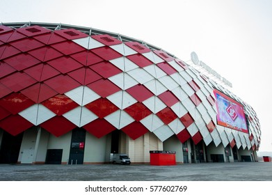 RUSSIA, MOSCOW, OCTOBER 29, 2014: Otkrytiye Arena, Spartak football club stadium included in the Russia's bid for the 2018 FIFA World Cup and 2017 FIFA Confederations Cup.