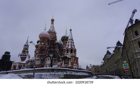 Russia Moscow Red-square in the winter time