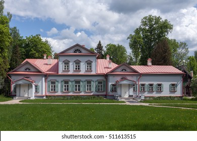 """Russia, Moscow region, Abramtsevo - 24 May, 2016: State Historical Artistic and Literary Museum """"Abramtsevo"""", the main house of the estate."""