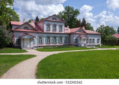 "Russia, Moscow region, Abramtsevo - 24 May, 2016: State Historical Artistic and Literary Museum ""Abramtsevo"", the main house of the estate."