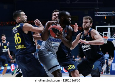 Russia. Moscow Region. Arena Mytishchi. January 8, 2019 ã. Charles Jenkins (center) during the Euroleague match 2018/2019 between Khimki (Russia) - Fenerbahce (Turkey)