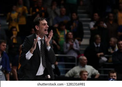 Russia. Moscow Region. Arena Mytishchi. January 8, 2019 ã. Coach of BC Khimki Georgios Bartzokas during the Euroleague match 2018/2019 between Khimki (Russia) - Fenerbahce (Turkey)
