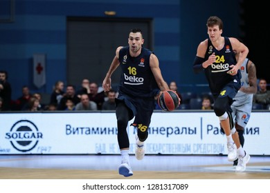 Russia. Moscow Region. Arena Mytishchi. January 8, 2019 ã. Kostas Sloukas and Jan Vesely during the Euroleague match 2018/2019 between Khimki (Russia) - Fenerbahce (Turkey)