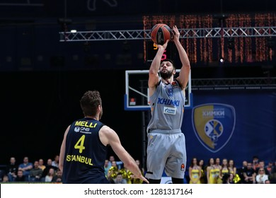 Russia. Moscow Region. Arena Mytishchi. January 8, 2019 ã. Nicolo Melli and Stefan Markovic during the Euroleague match 2018/2019 between Khimki (Russia) - Fenerbahce (Turkey)