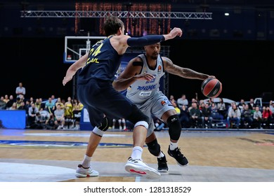Russia. Moscow Region. Arena Mytishchi. January 8, 2019 ã. Jan Vesely and Jordan Mickey during the Euroleague match 2018/2019 between Khimki (Russia) - Fenerbahce (Turkey)