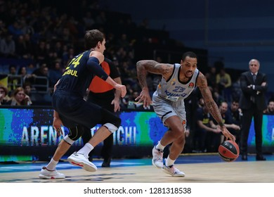 Russia. Moscow Region. Arena Mytishchi. January 8, 2019 ã. Jan Vesely and Malcolm Thomas during the Euroleague match 2018/2019 between Khimki (Russia) - Fenerbahce (Turkey)