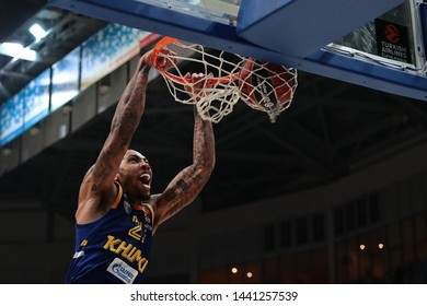Russia. Moscow Region. Arena Mytishchi. November 9, 2018. Malcolm Thomas during the Euroleague basketball match 2018/2019 between Khimki (Russia) & Barcelona (Spain)