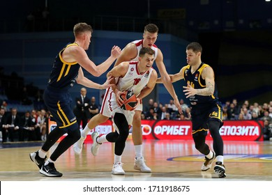 Russia. Moscow Region. Arena Mytishchi. November 14, 2019. Nemanja Nedovic (center) during the Euroleague basketball match 2019/2020 between Khimki (Russia) & Olimpia Milan (Italy)