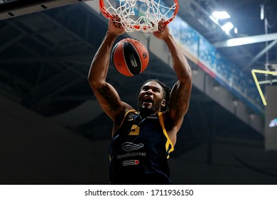 Russia. Moscow Region. Arena Mytishchi. November 14, 2019. Devin Booker during the Euroleague basketball match 2019/2020 between Khimki (Russia) & Olimpia Milan (Italy)