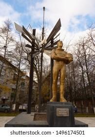 Russia, Moscow region, Monino, November 10, 2012 - Monument to military pilots