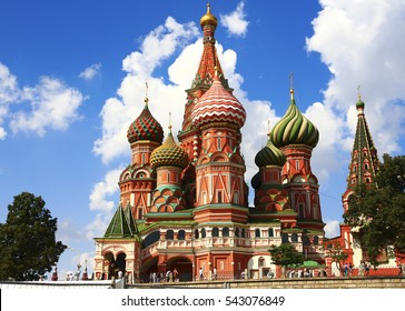 Russia. Moscow. Saint Basil's Cathedral - the most important decoration of the Red Square. Start of construction: 1555 Completion: 1561.