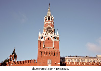 Russia, Moscow. Spassky Tower of Moscow Kremlin