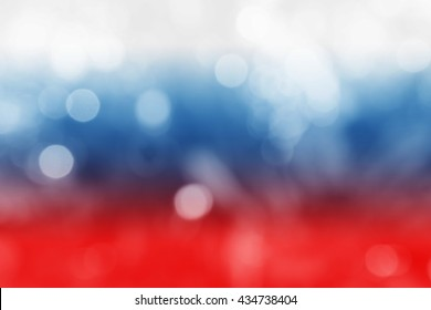 RUSSIA : National flag. Soft blurred bokeh natural background. Abstract gradient desktop wallpaper.