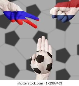 Russia Netherlands Ball  Rock-Paper-Scissors