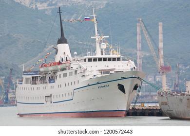 "Russia, Novorossiysk - June 30, 2013: Cruise ship ""Adriana"" in the port of Novorossiysk"