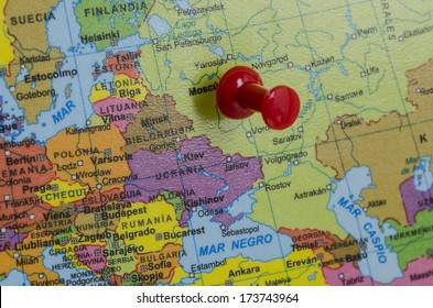Europe and Russia Map Stock Photos, Images & Photography ...