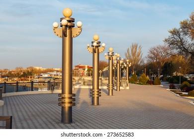 Russia, the resort of Anapa on the Black Sea. City Quay.