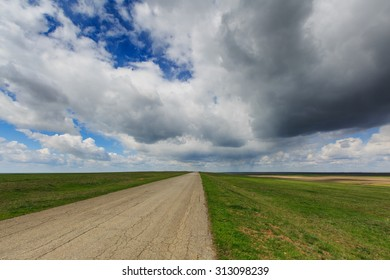 Russia. Rostov region. Clouds over the steppe.