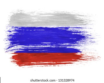 Russia. Russian flag  on white background