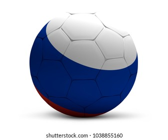 Russia russian soccer football ball 3d rendering isolated ball