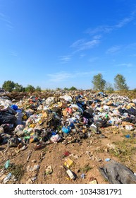 Russia, Ryazan, 02 Sep, 2018; Large pile of debris, city dump pollution. Garbage and nature is a big actual problem Dumps,trash,garbage site,Landfill