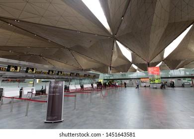 Russia / Saint Petersburg / 2019.07.15 / Pulkovo Airport LED hall