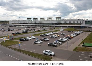 Russia / Saint Petersburg / 2019.07.15 / Pulkovo Airport LED terminal and parking