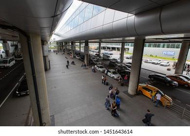 Russia / Saint Petersburg / 2019.07.15 / Pulkovo Airport LED taxi stop