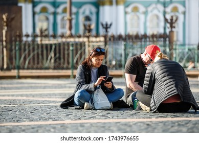 Russia, Saint Petersburg, may 23, 2020: residents of Saint Petersburg went for a walk
