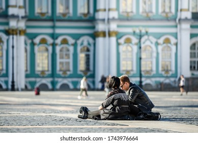 Russia, Saint Petersburg, may 23, 2020: people in Russia went for a walk around the city