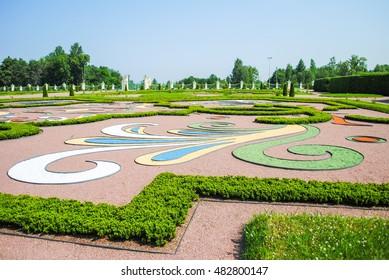 RUSSIA, SAINT-PETERBURG - JUNE 26/2013: ORANIENBAUM LOMONOSOV RECEIVED VISITORS AFTER RESTORATION OF MANY EXHIBITS