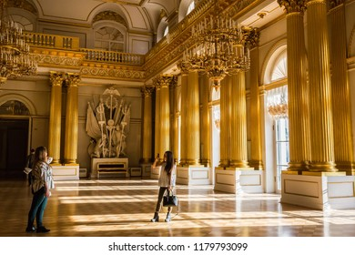 04.04.2017 Interior Of The State Hermitage Museum. One