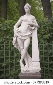 "RUSSIA; SAINT-PETERSBURG - JULY 5 -The sculpture ""Glory"" in the Summer Garden on July 5; 2015 in St. Petersburg"