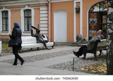 Russia, Saint-Petersburg, Petropavlovskaya fortress, 14.10.2017,male escorts views lady