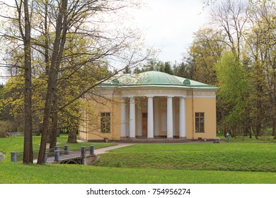 """Russia, Saint-Petersburg, Pushkin - may 20, 2017: The pavilion """"Concert hall"""" - one of the Palace pavilions of the Catherine Park"""