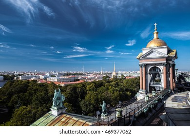 Russia, Saint-Petersburg. Russia, Saint-Petersburg. The view from the observation deck of St. Isaac's Cathedral